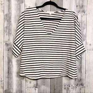 Anthro Eri + Ali | Medium | striped dolman top